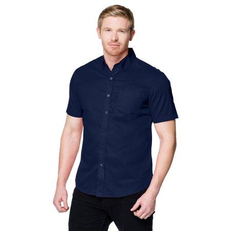 Men's Brushed Twill Short Sleeve Woven Shirt (Performance Brushed Twill Shirt)