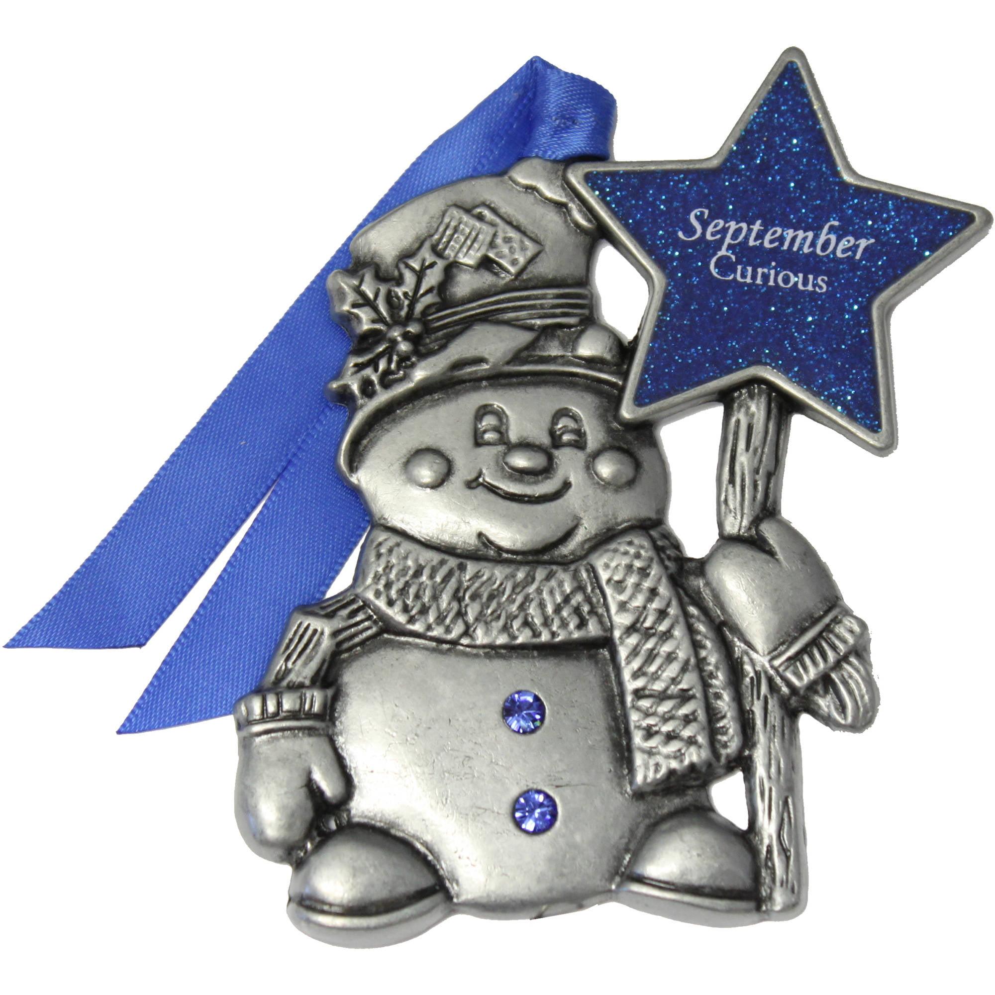 Gloria Duchin Personalized Birthstone Snowman Ornament