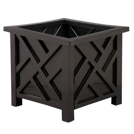 Black Chippendale Planter ()