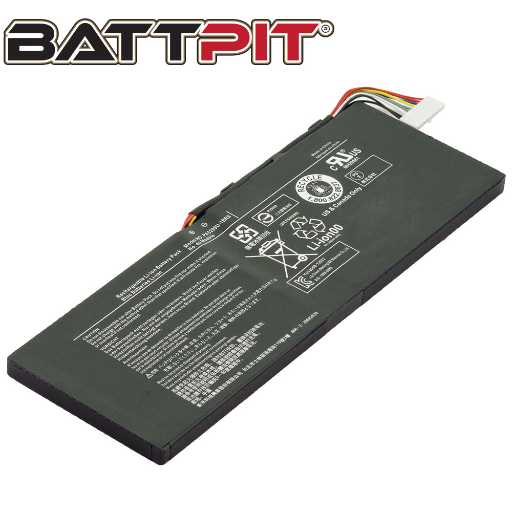 BattPit: Laptop Battery Replacement for Toshiba Satellite L10-B003, PA5209U-1BRS, Satellite L15W-B1302 (7.2V 3684mAh 28WH)