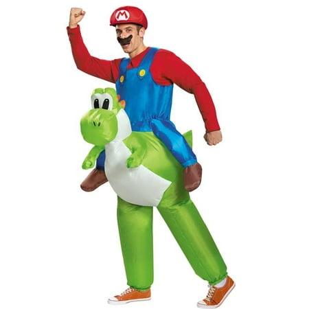 Morris Costumes DG85150AD Mario Riding Yoshi Adult Costume, Size 42-46