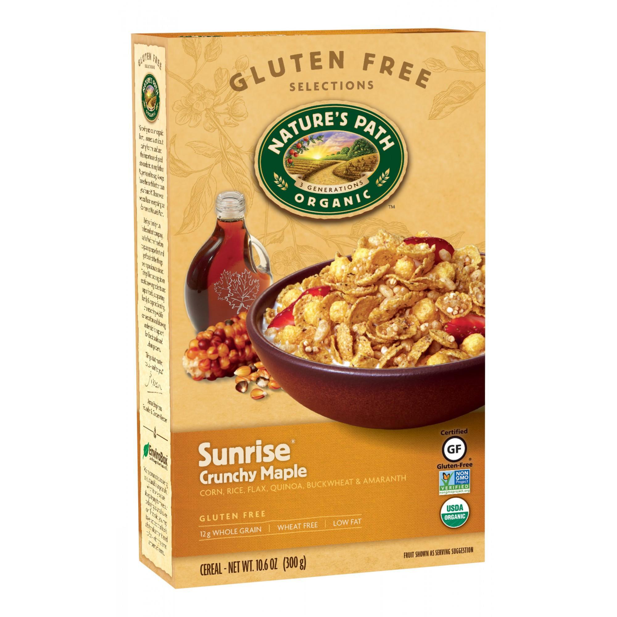 Nature's Path Organic Cereal, Gluten Free, Sunrise Crunchy Maple, 10.6 oz