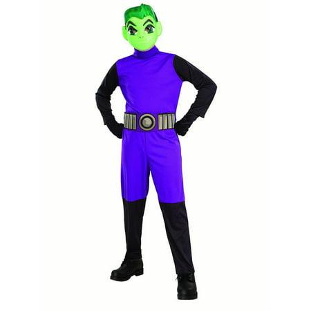 Teen Titan Go Movie Boys Beast Boy Halloween Costume](Best Buy Costumes)