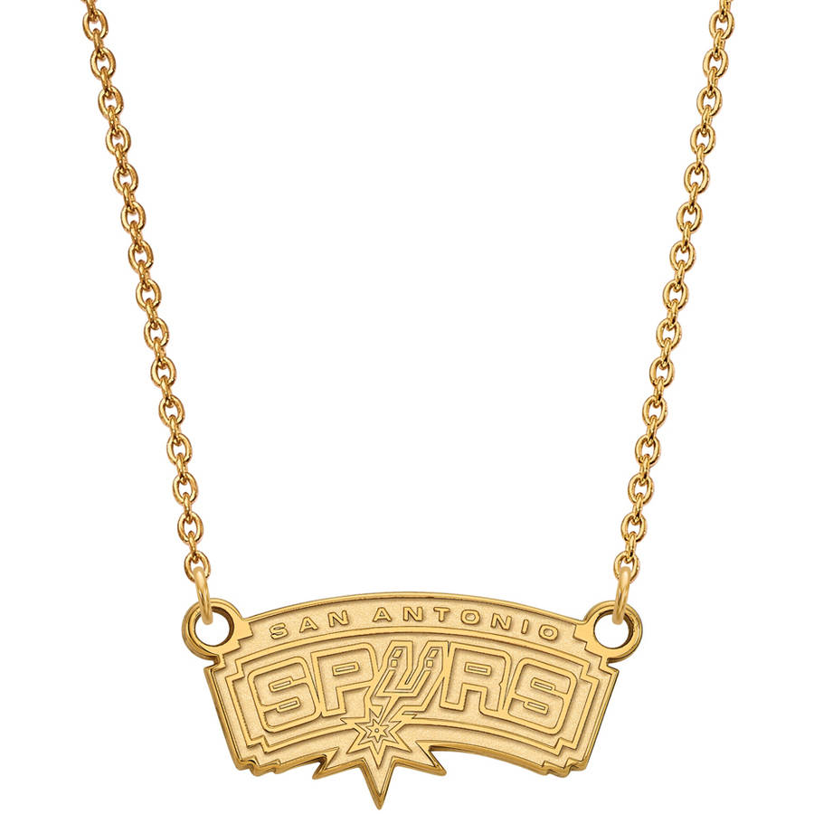 NBA San Antonio Spurs 10kt Yellow Gold Small Pendant with Necklace