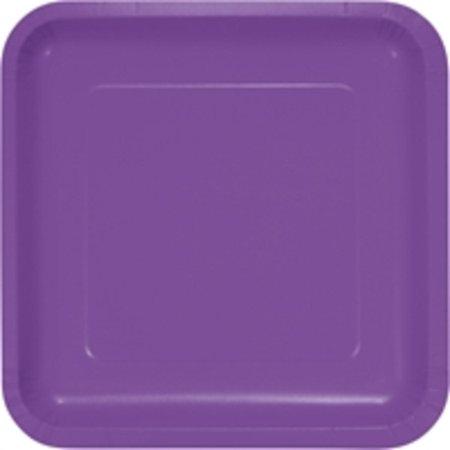 Purple 9 Square Paper - Club Pack of 180 Amethyst Purple Premium Durable Paper Square Dinner Plates 9