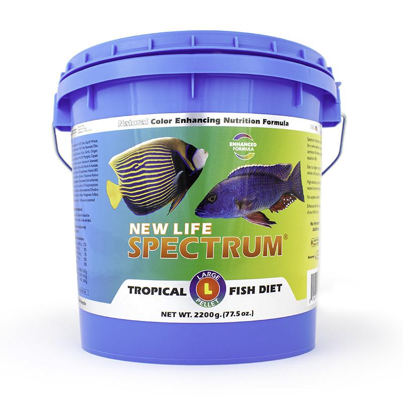 New Life Spectrum Tropical Fish Diet Large Fish Food Pellets, 2.2 kg