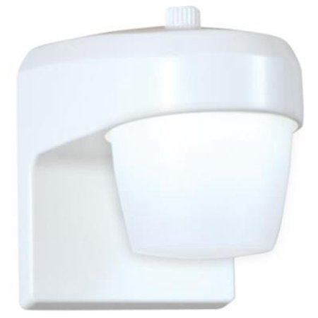 Cooper White LED Entry & Patio Light With Integral Photo Control Equivalent T