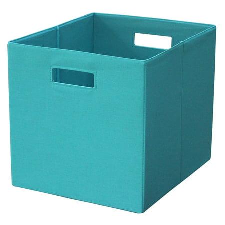 Fabric storage bins best storage design 2017 for Teal bathroom bin