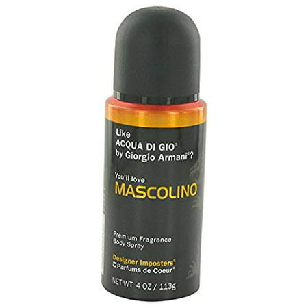 (pack 4) Designer Imposters Mascolino Cologne By Parfums De Coeur Body Spray4 oz