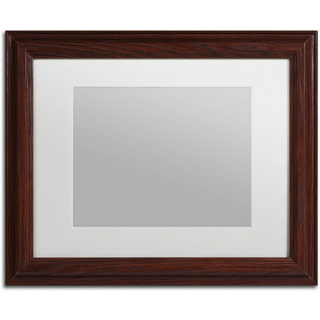 trademark fine art heavy duty 11x14 wood picture frame with 8x10 white mat. Black Bedroom Furniture Sets. Home Design Ideas