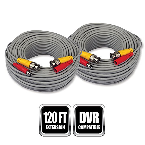 Night Owl Bnc Video/power Extension Cable - Bnc For Digital Video Recorder, Surveillance Camera - Extension Cable - 60 Ft - 2 Pack - 1 X Bnc Male Video, 1 X Male Power - 1 X Bnc Male (cab-2pk-24awg)