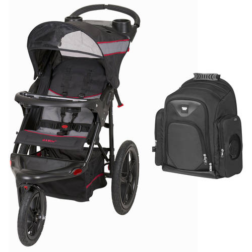 Baby Trend Expedition Jogger Stroller, Millennium w/iPack Diaper Bag Backpack Value Bundle