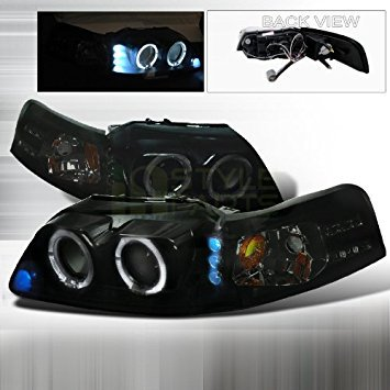 99-04 Ford Mustang Smoked Lens Gloss Black Housing Projector