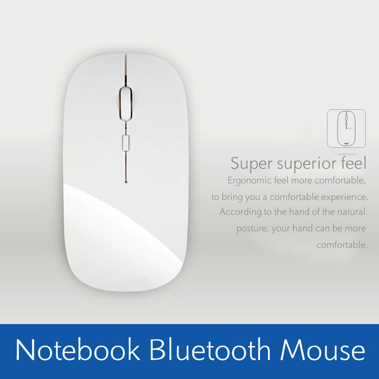 White Portable Rechargeable Bluetooth 3.0 Wireless Mouse For Laptop Pc Tablets Mouse