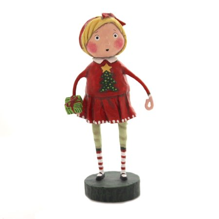 Lori Mitchell GIFT EXCHANGE GIRL Polyresin Holiday Christmas 11173 ()