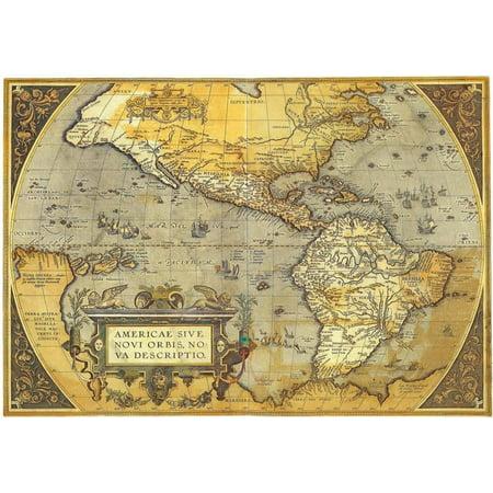Americae Sive Nova Orbis, Bo Va Descrito- Antique Map Of The Americas Cram 1892 Antique Map