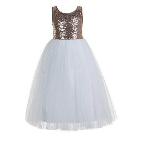 Ekidsbridal Crossed Straps A Line Flower Girl Dresses Formal Dresses