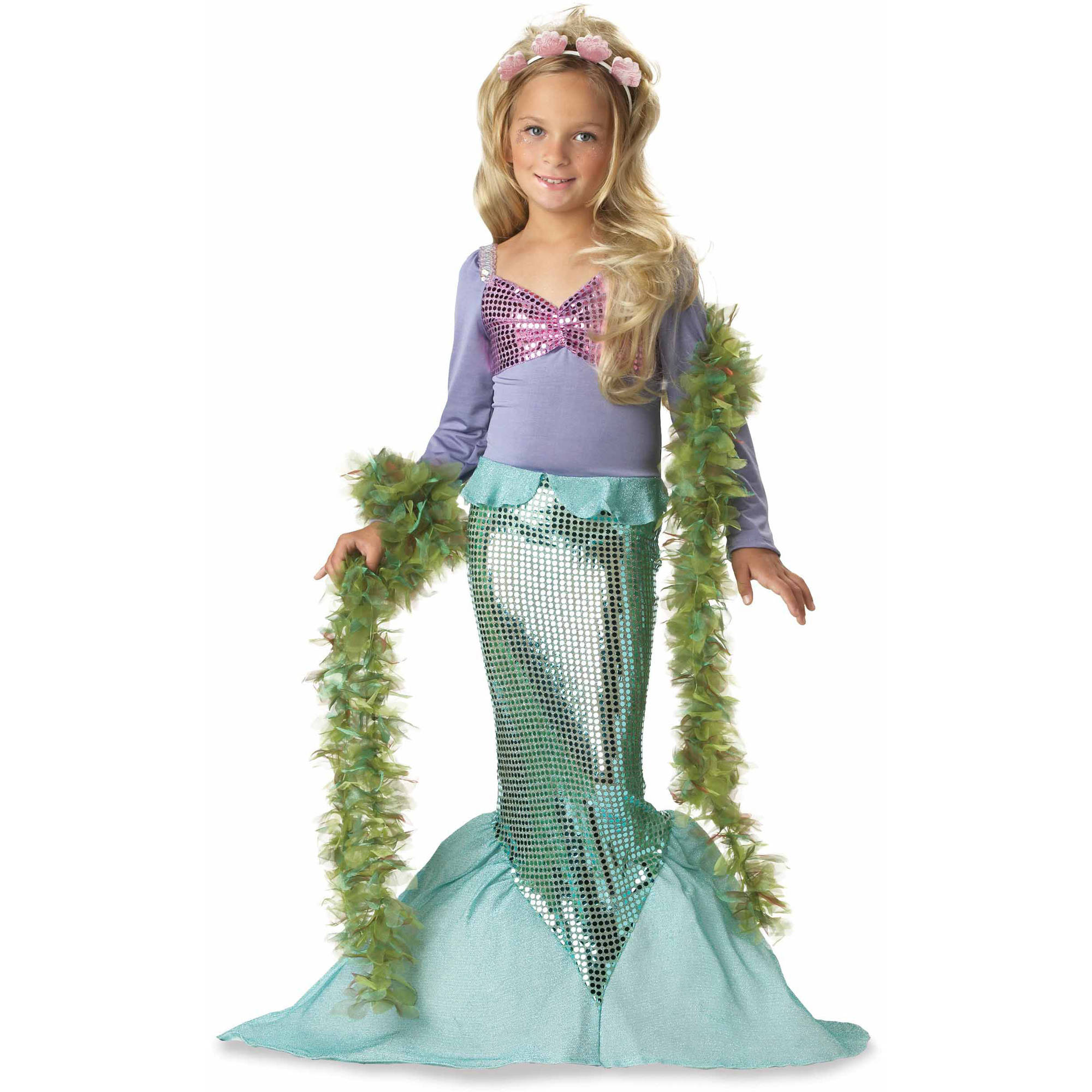 Lilu0027 Mermaid Child Halloween Costume  sc 1 st  Walmart & Lilu0027 Mermaid Child Halloween Costume - Walmart.com