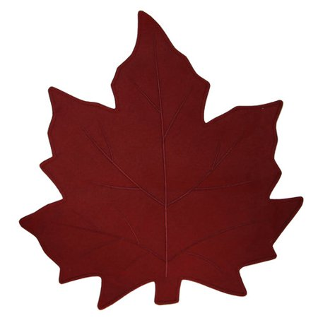 Better Homes And Gardens Shaped Leaf Placemat Red