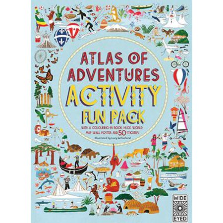 Atlas of Adventures Activity Fun Pack : With a Coloring-In Book, Huge World Map Wall Poster, and 50 Stickers