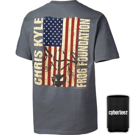 Chris Kyle Frog Foundation Epic Flag American Sniper T Shirt   Coolie  S