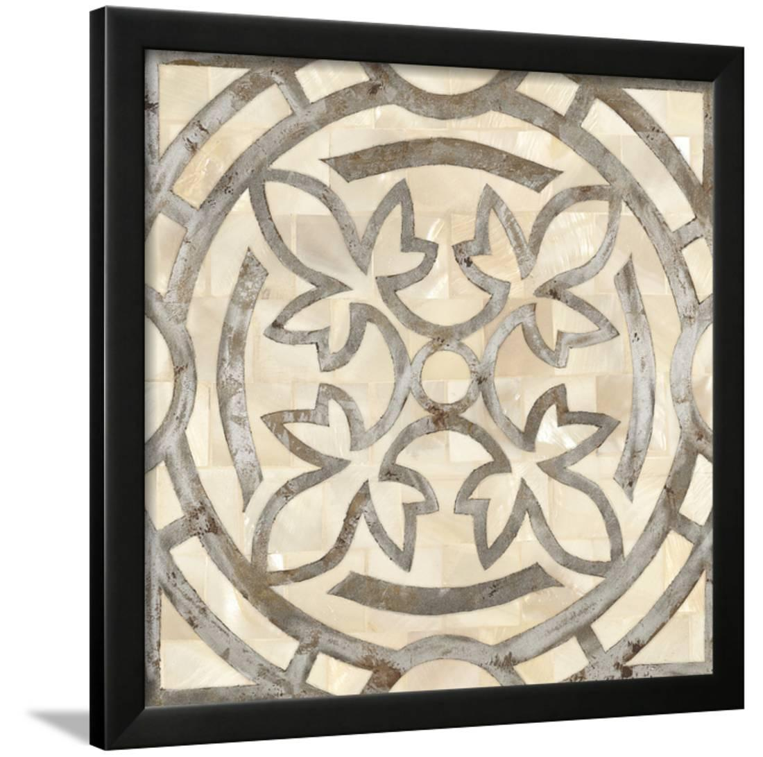 Natural Moroccan Tile 3 Framed Print Wall Artwork By Hope Smith by Art.com