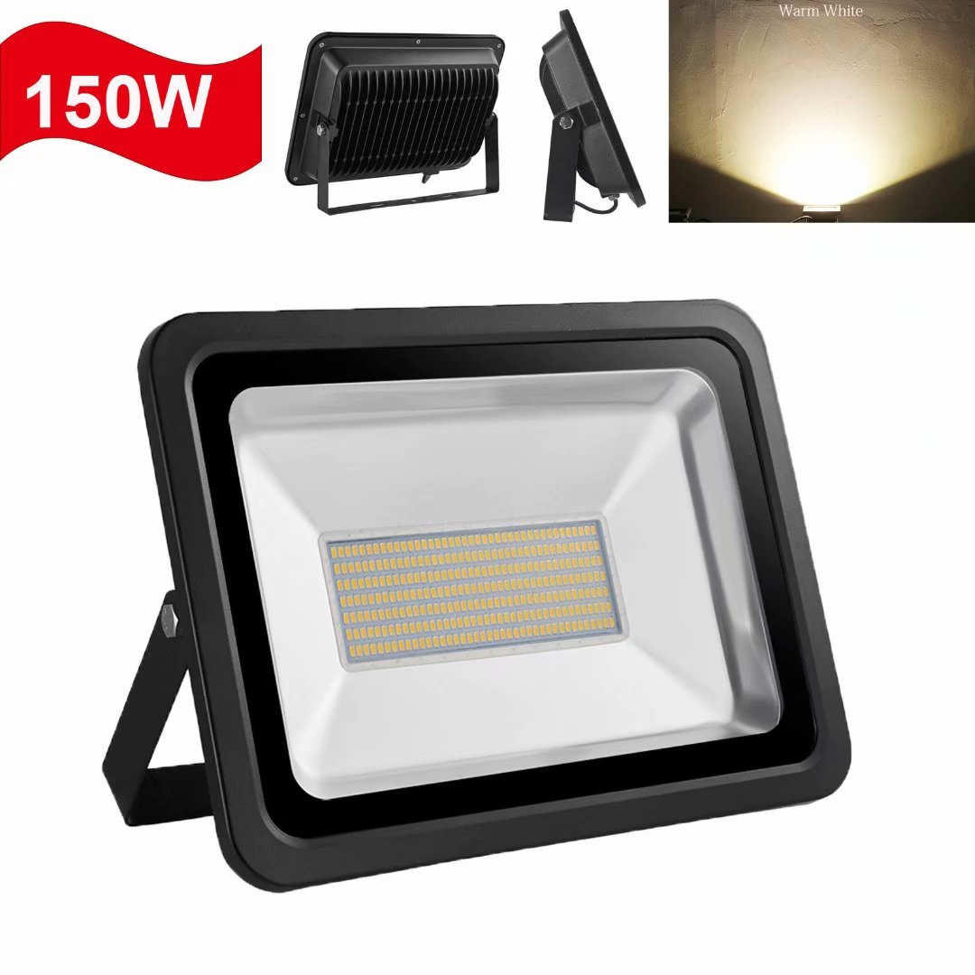 100W 150W 200W LED Flood Light Waterproof IP65 Outdoor Lighting Warm White Lamp