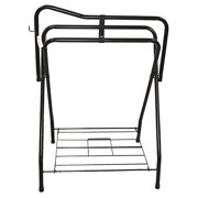 Partrade Standing Saddle Rack Black