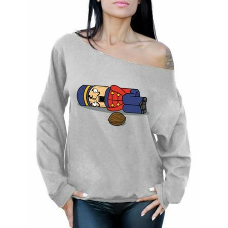 Awkward Styles Nutcracker Xmas Off The Shoulder Sweatshirt Sweater