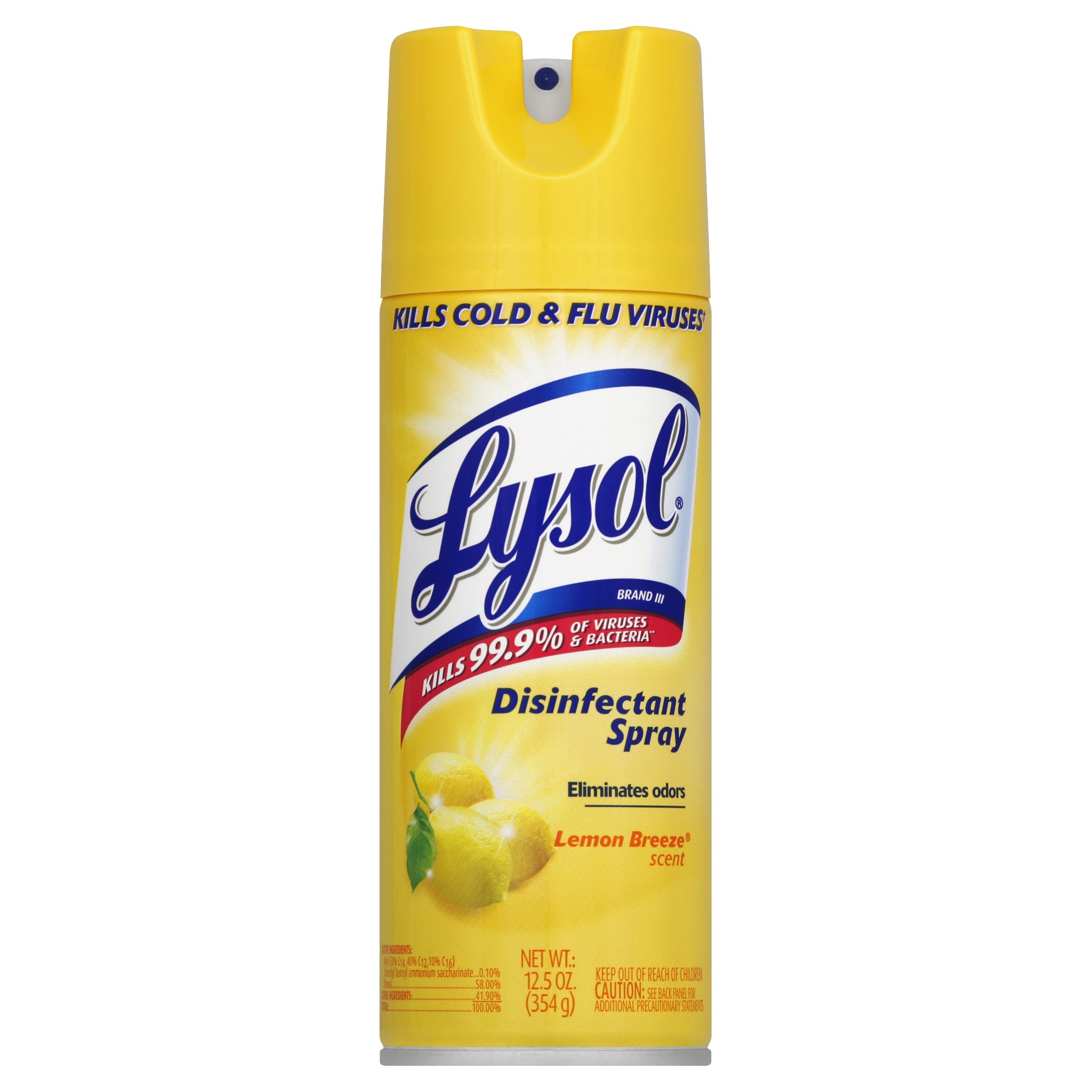Lysol Disinfectant Spray, Lemon Breeze, 12.3 Ounce