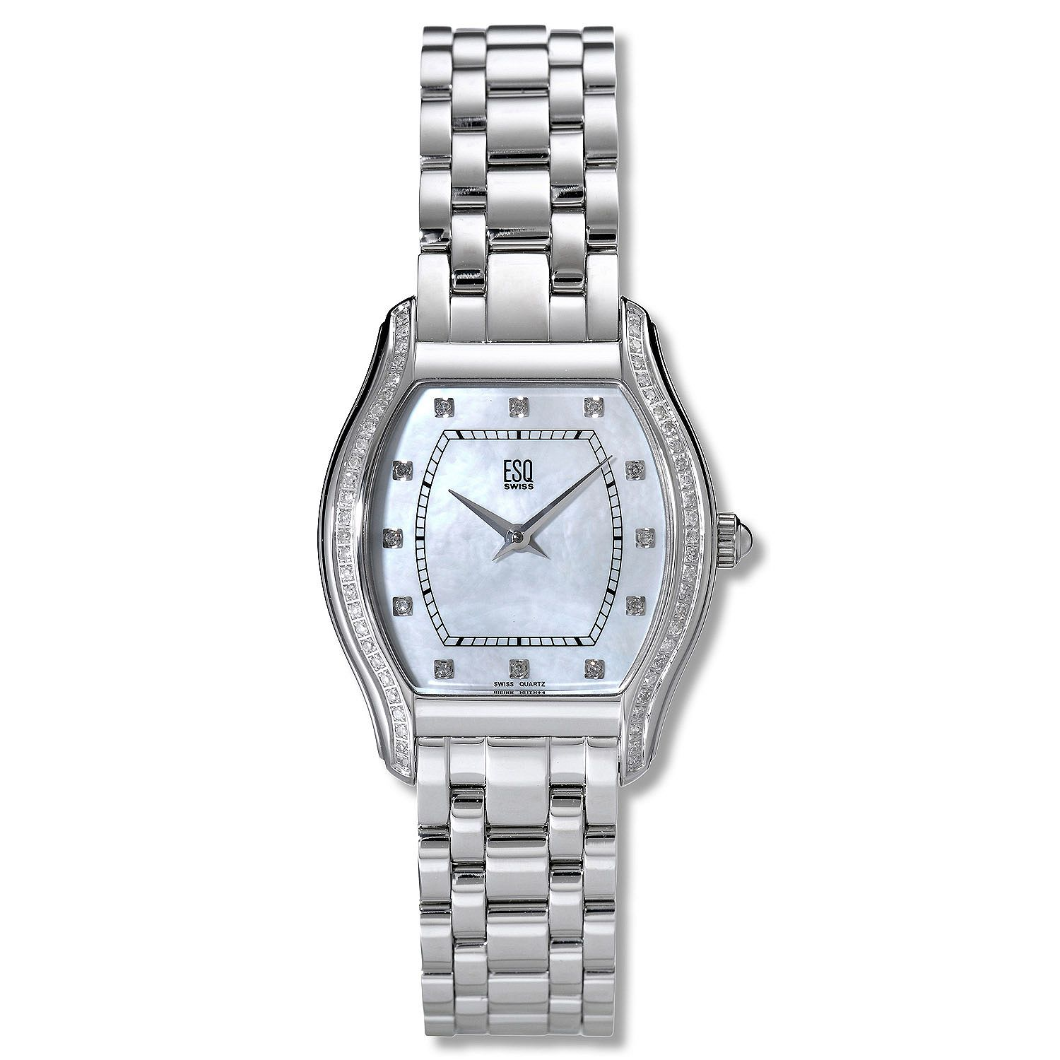 ESQ Movado Women's Simone Stainless Steel Mother of Pearl Dial Quartz Watch