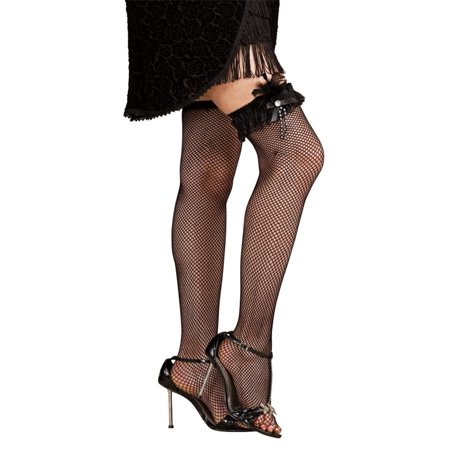 Black Adult Flapper Feather Costume Leg - Flapper Feathers