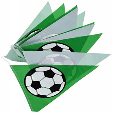 Soccer Ball Pennant Banner Party Accessory (1 count) - Soccer Banners