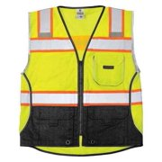 1515-4X Safety Vest, 4XL, Lime, Male