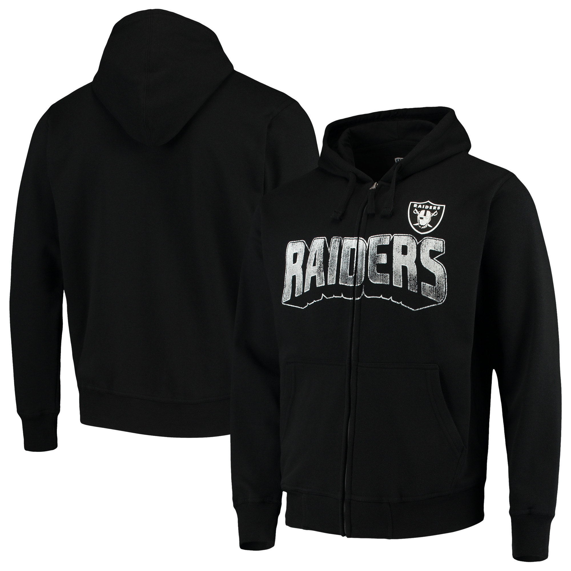 Oakland Raiders G-III Sports by Carl Banks Perfect Season Full-Zip Hoodie - Black