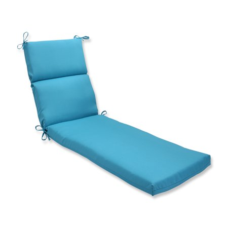 Pillow perfect outdoor indoor veranda turquoise chaise for Chaise lounge at walmart