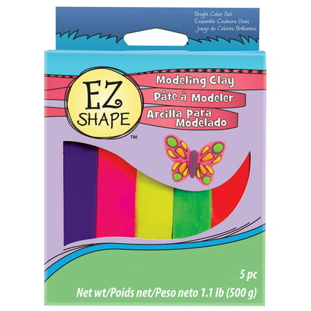 Sculpey EZ Shape Modeling Clay Set, 5-Colors, Bright