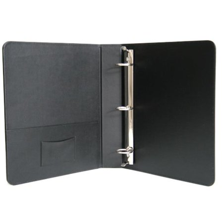 1.5 Inch Leather - Royce Leather 307-BLK-8 1.5 Inch Ring Binder - Black
