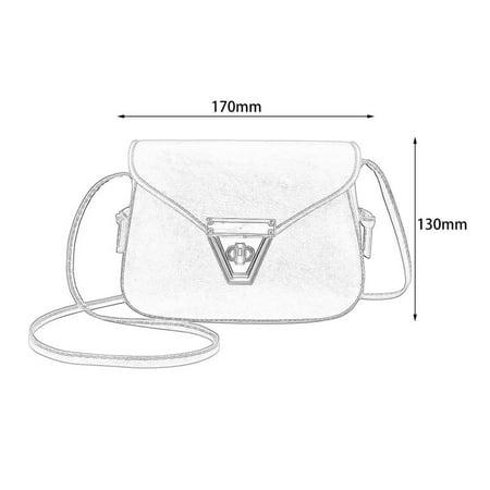 Fashion Soft PU Leather Women Crossbody Bag Adjustable Strap Shoulder Bag - image 5 of 10