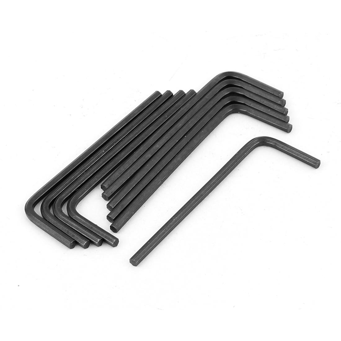 "1.9/"" Length 2mm L Shaped Rob Hex Key Wrench Hand Repair Tool 10Pcs"