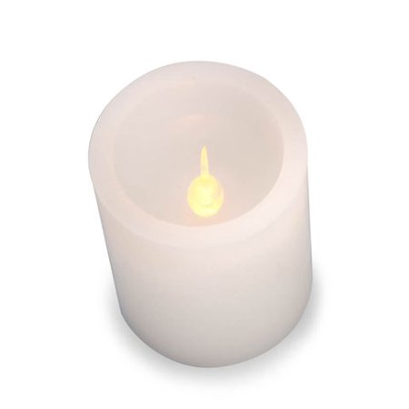 LED Pillar Candle: White, Color Changing, 6 inches