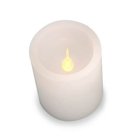 LED Pillar Candle: White, Color Changing, 6