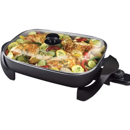 BLACK+DECKER Family Size Electric Skillet & Glass Lid,