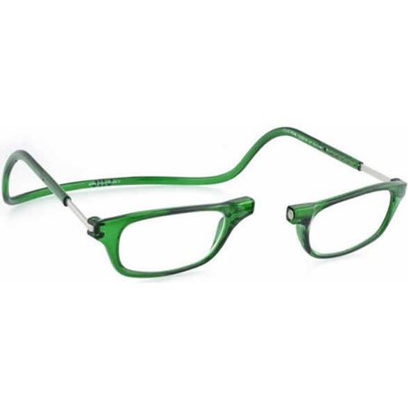 CliC Original +2.00 Reading Glasses Emerald Frame Clear Lenses Size (Glasses Frame Size Guide)