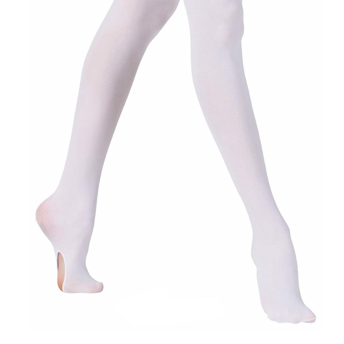 Slim Convertible Tights Pant Ballet Pantyhose Footed Socks Dance Stocking
