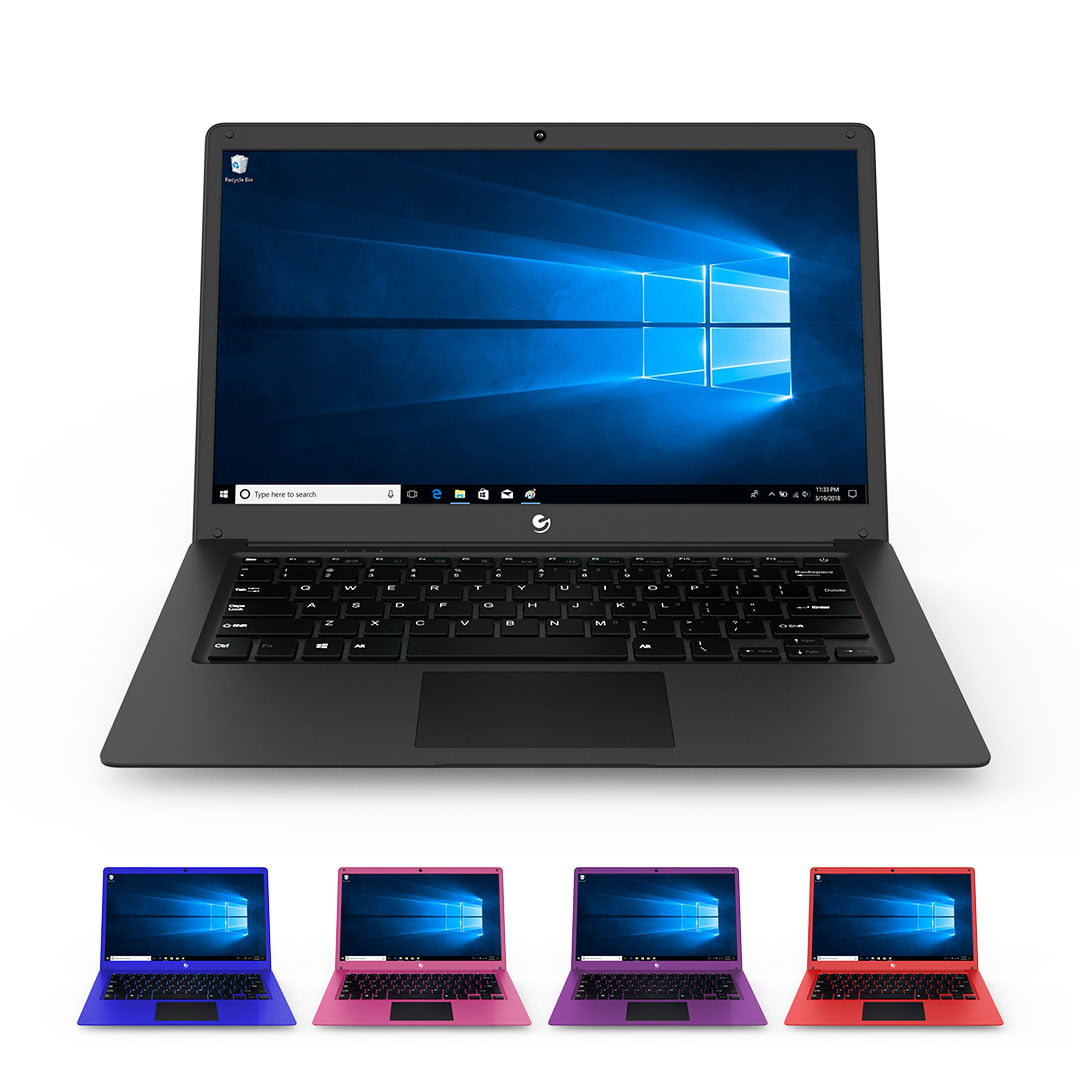 "Ematic 14.1"" Laptop PC with Intel Atom Quad-Core Processor, 4GB Memory, 32GB Flash Storage and Windows 10 EWT147"