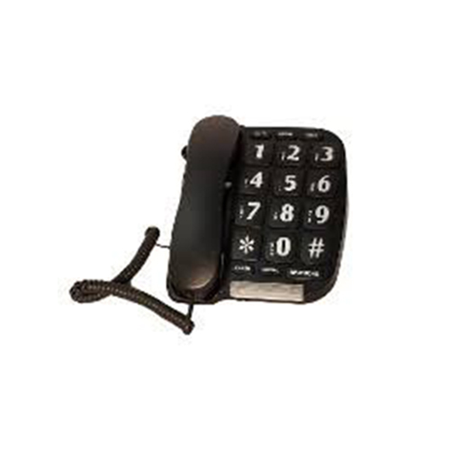 Sonnet Large Keypad Buttons Bright Ringer Light Corded Telephone (Black) P-582