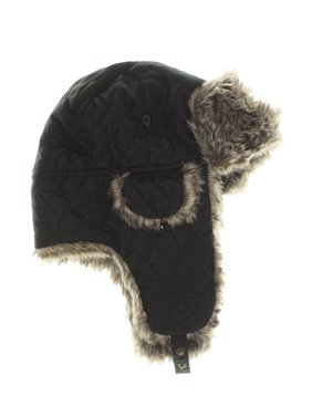 Product Image Urban Pipeline Men Quilted Fur Trimmed Black Trapper Aviator Hat  One Size 48c6cc98d067