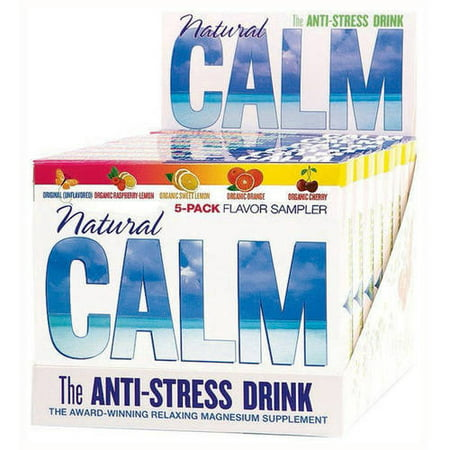 Natural Vitality Calm Counter Display   Assorted Flavors  5 Ct  Pack Of 8
