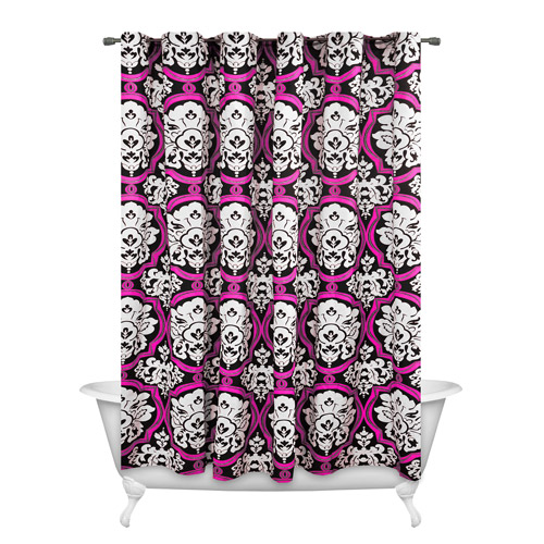 Dotted Damask Shower Curtain